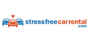 stress free car rental logo